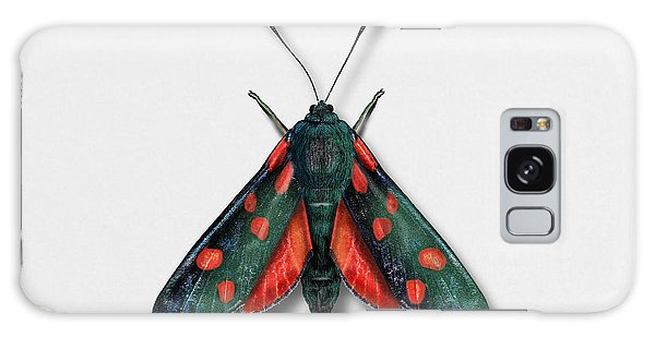 Six Spot Burnet Butterfly - Zygaena Filipendulae Naturalistic Painting - Nettersheim Eifel Galaxy Case