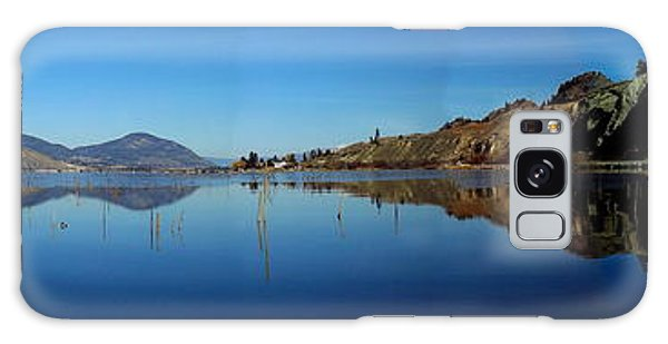Skaha Lake Kayaking Panorama Galaxy Case by Guy Hoffman