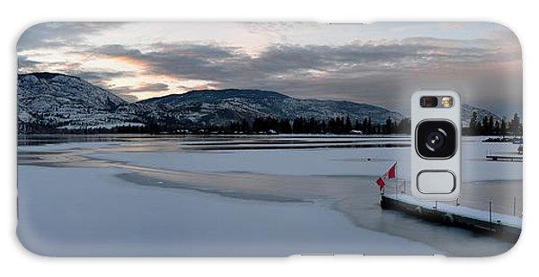 Skaha Lake Sunset Panorama 02-27-2014 Galaxy Case by Guy Hoffman