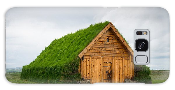 Skalholt Iceland Grass Roof Galaxy Case