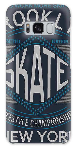 Active Galaxy Case - Skate Board Typography, T-shirt by Braingraph