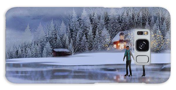 Skating At Christmas Night Galaxy Case