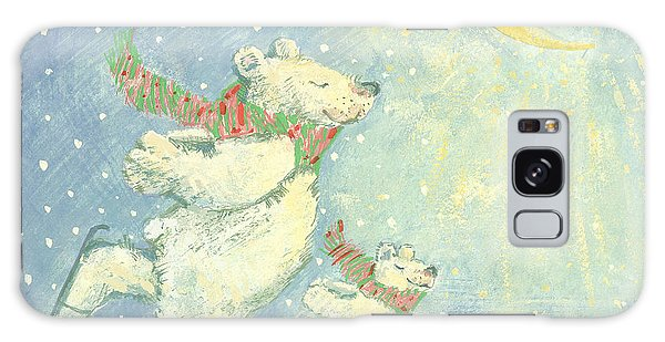 Ice Galaxy Case - Skating Polar Bears by David Cooke