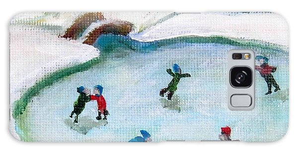 Skating Pond Galaxy Case by Laurie Morgan