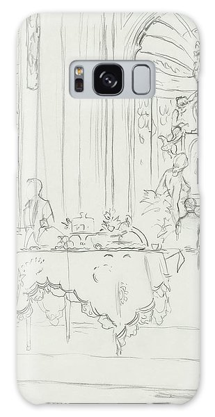 Sketch Of A Formal Dining Room Galaxy S8 Case