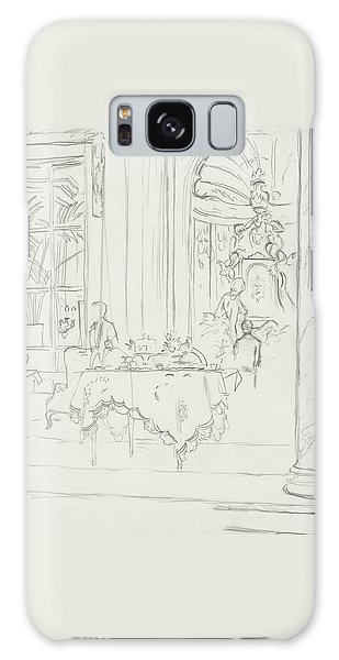 Sketch Of A Formal Dining Room Galaxy Case