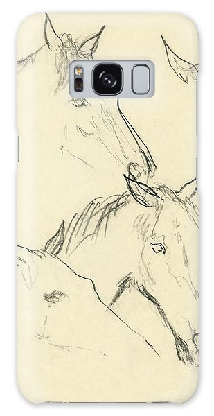 Sketch Of A Horse Head Galaxy S8 Case