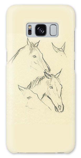 Sketch Of A Horse Head Galaxy Case