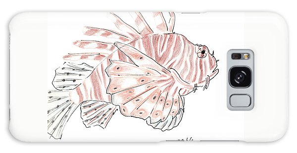 Sketch Of Lion Fish At London Aquarium Galaxy Case