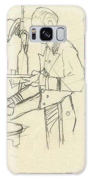 Sketch Of Waiter Pouring Wine Galaxy S8 Case