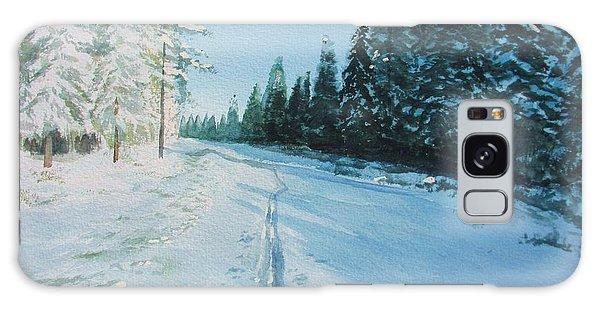 Ski Tracks Galaxy Case by Martin Howard