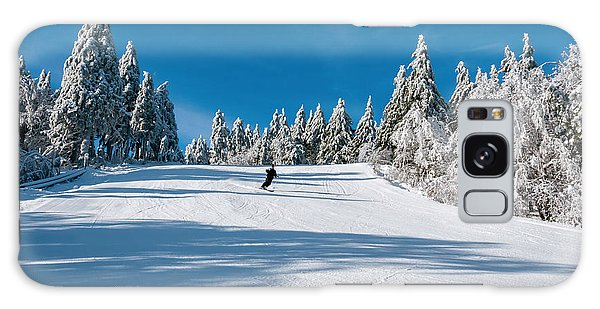 Skiers Paradise Galaxy Case by Sharon Seaward