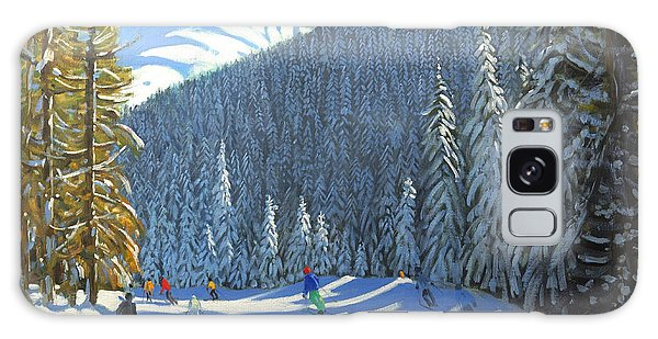 Pine Branch Galaxy Case - Skiing  Beauregard La Clusaz by Andrew Macara