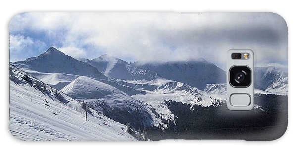 Skiing With A View Galaxy Case by Fiona Kennard