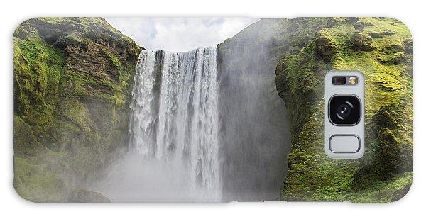 Skogarfoss Waterfall Galaxy Case