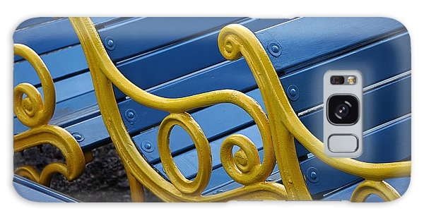 Skc 0246 The Garden Benches Galaxy Case by Sunil Kapadia