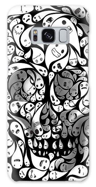 Skull Galaxy Case - Skull Doodle by Sassan Filsoof