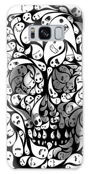 Nightmare Galaxy Case - Skull Doodle by Sassan Filsoof