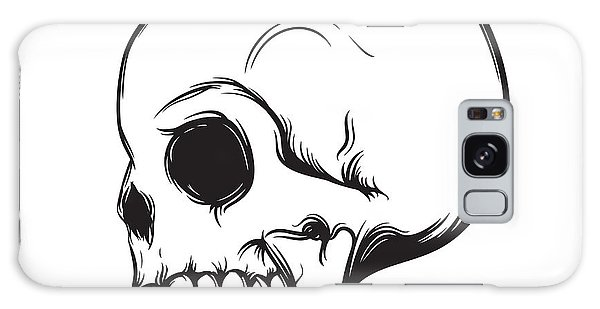 Metal Galaxy Case - Skull, Side View, Isolated On White by Nexusby