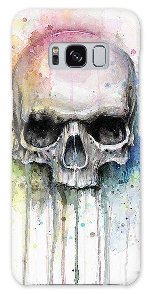 Skull Galaxy Case - Skull Watercolor Painting by Olga Shvartsur