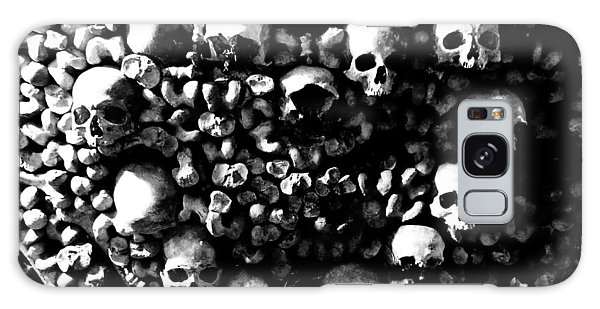 Skulls And Bones In The Catacombs Of Paris France Galaxy Case