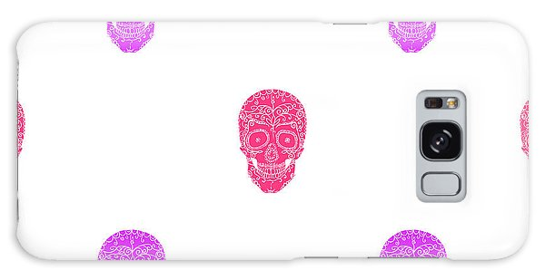 Death Galaxy Case - Skulls With Ornament On White by Aksanav