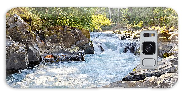 Skutz Falls At Cowichan River Provincial Park Galaxy Case