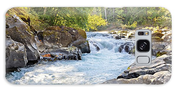 Skutz Falls At Cowichan River Provincial Park Galaxy Case