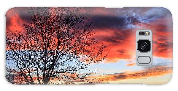 Sky Ablaze Galaxy Case by Shirley Heier