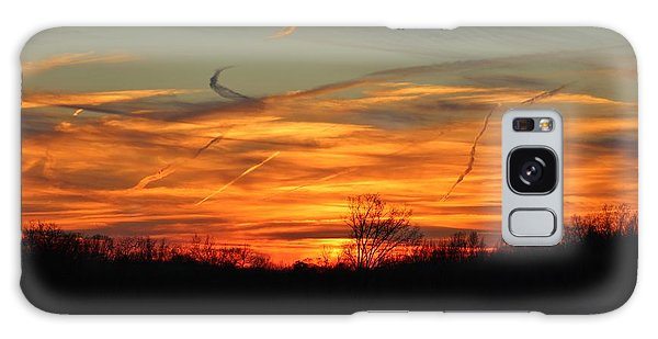 Sky At Sunset Galaxy Case