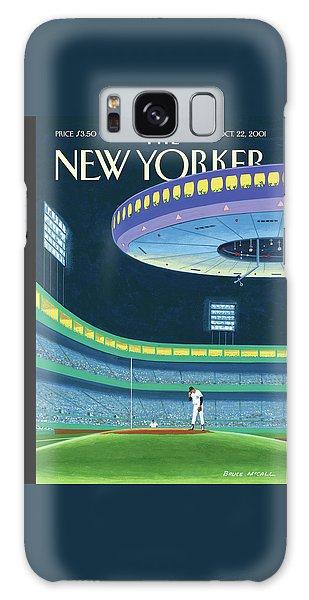 Yankee Stadium Galaxy S8 Case - Sky Box by Bruce McCall