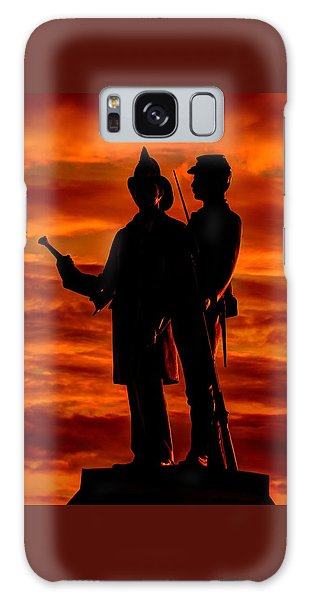 Sky Fire - 73rd Ny Infantry Fourth Excelsior Second Fire Zouaves-b1 Sunrise Autumn Gettysburg Galaxy Case