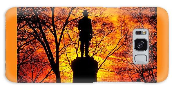 Sky Fire - Flames Of Battle 50th Pennsylvania Volunteer Infantry-a1 Sunset Antietam Galaxy Case