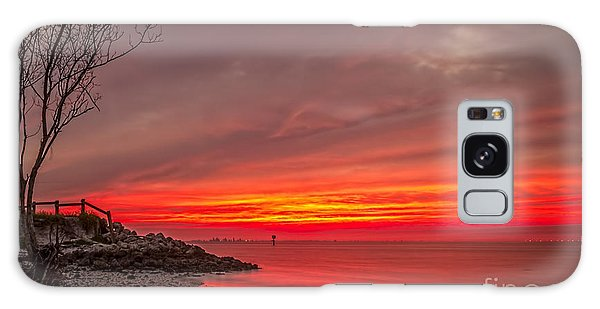 Beach Sunset Galaxy Case - Sky Fire by Marvin Spates