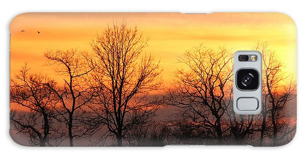 Sky On Fire Galaxy Case by Lorna Rogers Photography