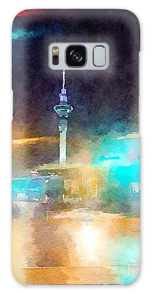 Sky Tower By Night Galaxy Case