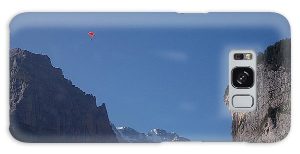 Skydiver Over Lauterbrunnen Galaxy Case