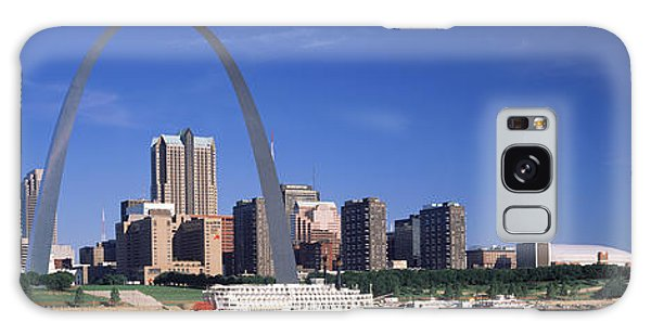 St Louis Mo Galaxy Case - Skyline Gateway Arch St Louis Mo Usa by Panoramic Images