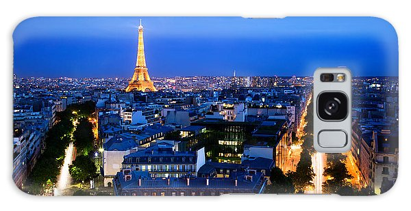 Skyline Of Paris Galaxy Case