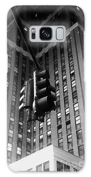 Skyscraper Framed Traffic Light Galaxy Case by James Aiken