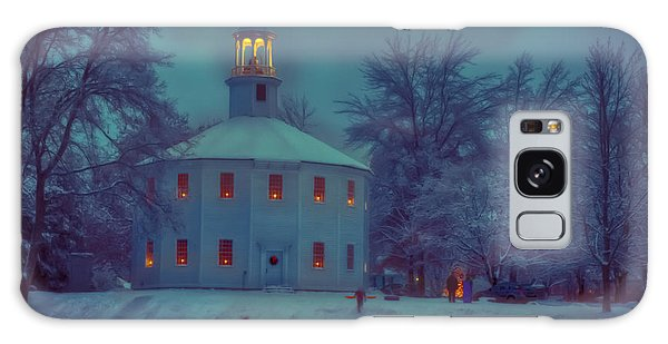Sledding At The Old Round Church Galaxy Case by Jeff Folger