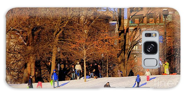 Sledding On Boston Common Galaxy Case