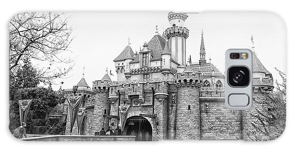 Sleeping Beauty Castle Disneyland Side View Bw Galaxy Case by Thomas Woolworth