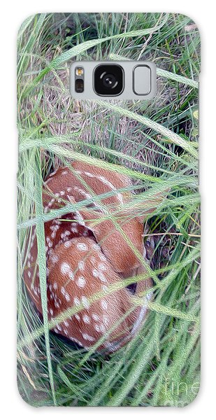 White-tailed Deer Galaxy Case - Sleeping Fawn 2 by Jon Neidert