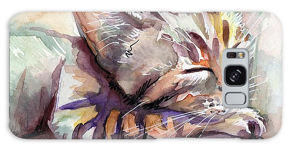 Tabby Galaxy Case - Sleeping Kitten by Olga Shvartsur