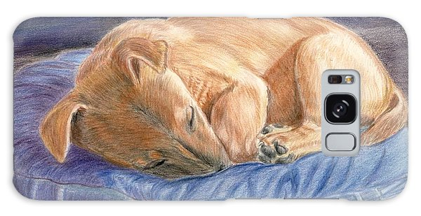 Sleeping Puppy Galaxy Case by Ruth Seal