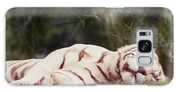 Sleeping White Snow Tiger Galaxy Case