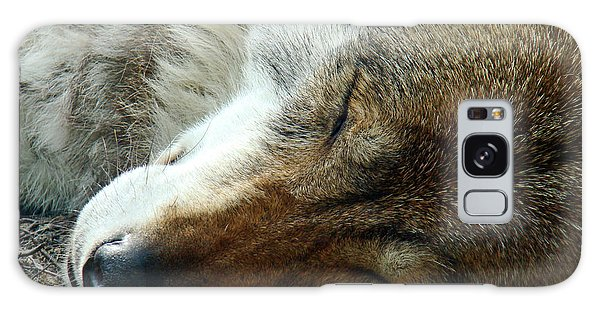 Sleeping Wolf Galaxy Case by Maja Sokolowska