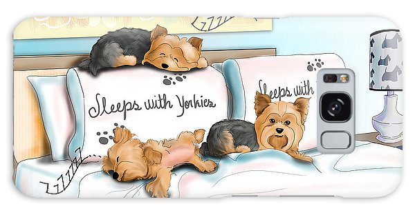 Sleeps With Yorkies Galaxy Case