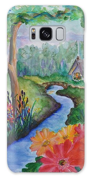 Sleepy Forest Cottage Galaxy Case